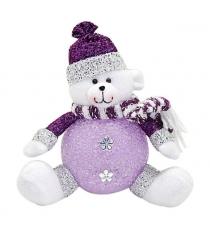 Светильник led мишка 18 см фиолет Новогодняя сказка 949186
