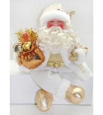 Кукла дед мороз 43 см золото Новогодняя сказка 949209