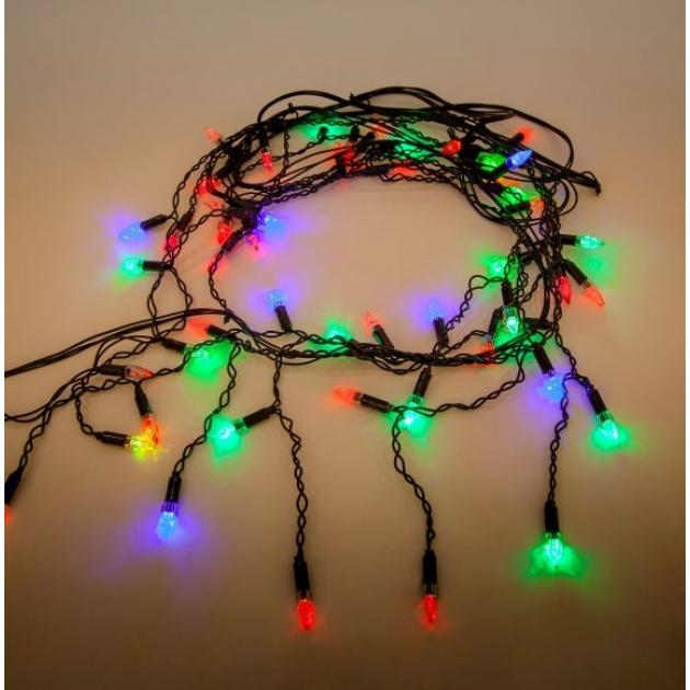 Гирлянда электрическая свечи 51led портьера Новогодняя сказка 971035