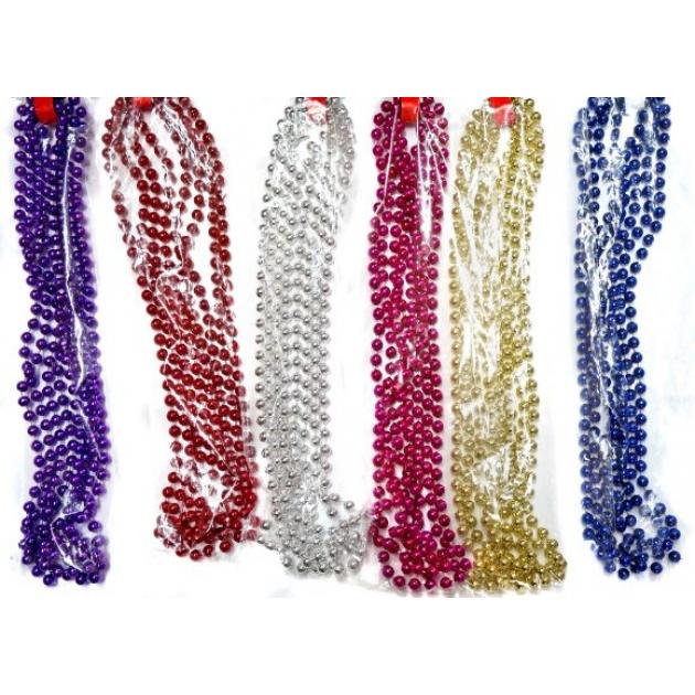 Бусы шарики диам75 мм длина 27 м в ассорт Новогодняя сказка 971091