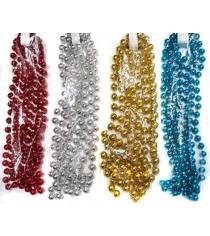 Бусы шарики диам14 мм длина 27 м в ассорт Новогодняя сказка 971094