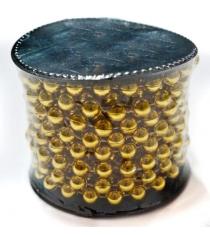 Бусы шарики диам 75 мм длина 5 м в ассорт катушка Новогодняя сказка 971104