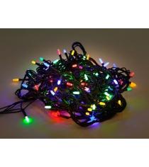 Гирлянда электрическая 100 led цветное свечение 8 реж Новогодняя сказка 971603