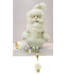 Кукла дед мороз 45 см золото Новогодняя сказка 971988