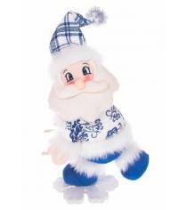 Кукла дед мороз на снежинке 30 см Новогодняя сказка 972014