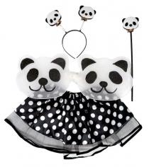 Костюм панда юбка 27 см крылья 20х50 см Новогодняя сказка 972131