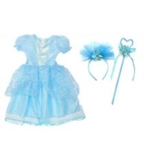 Костюм зимняя принцесса 65 см голуб Новогодняя сказка 972145