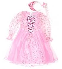 Костюм принцесса 75 см роз ободок палочка Новогодняя сказка 972146