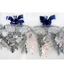 Растяжка снежинки 35х20 смх2м Новогодняя сказка 972160