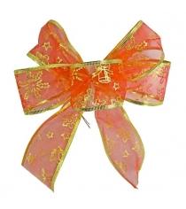 Елочное украшение бант праздничный 20х20 см красн Новогодняя сказка 972295
