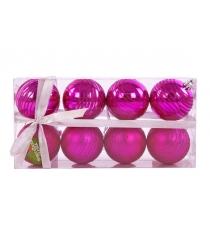 Набор шаров 6 см 8 шт роз Новогодняя сказка 972351