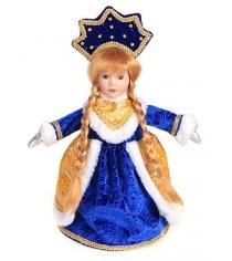 Кукла снегурочка 35 см конфетница син Новогодняя сказка 972372