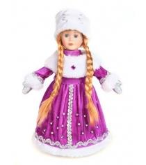 Кукла снегурочка 35 см конфетница фиолет Новогодняя сказка 972373