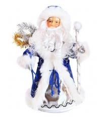 Кукла дед мороз 35 см конфетница син Новогодняя сказка 972374