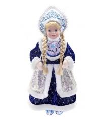 Кукла снегурочка 43 см под елку син Новогодняя сказка 972400