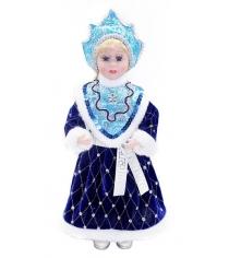 Кукла снегурочка 36 см под елку син Новогодняя сказка 972401