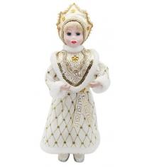 Кукла снегурочка 36 см под елку золото Новогодняя сказка 972402