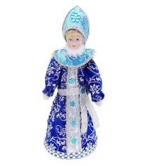 Кукла снегурочка 20 см под елку син Новогодняя сказка 972405