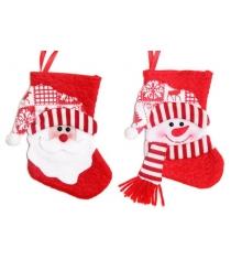 Носок подарочн 18 см красн в ассорт Новогодняя сказка 972409