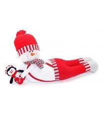 Кукла снеговик весельчак 66х305 см красн Новогодняя сказка 972411