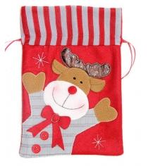 Мешок подарочн 19х28 см красн Новогодняя сказка 972417