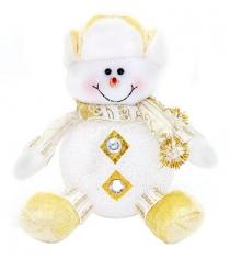 Светильник led снеговик 15 см золото Новогодняя сказка 972422