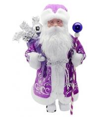 Кукла дед мороз 43 см под елку фиолет Новогодняя сказка 972434