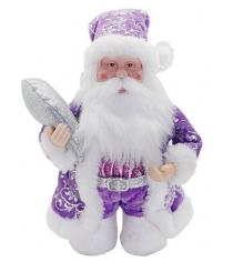 Кукла дед мороз 20 см под елку фиолет Новогодняя сказка 972435
