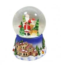 Шар декор дед мороз 100 мм мелодия Новогодняя сказка 972478