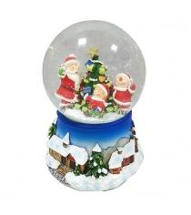 Шар декор новогодний хоровод 100 мм мелодия Новогодняя сказка 972479