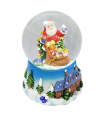 Шар декор дед мороз с подарками 100 мм мелодия Новогодняя сказка 972480
