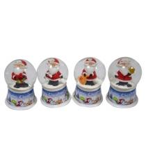 Шар декор дед мороз 45 мм свет Новогодняя сказка 972484
