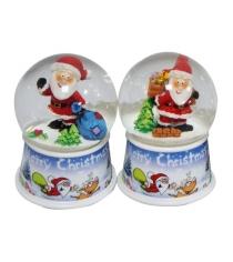 Шар декор дед мороз 65 мм свет Новогодняя сказка 972486