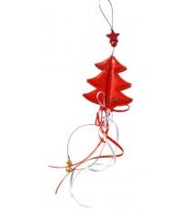 Подвеска новогодняя 40 см красн Новогодняя сказка 972523
