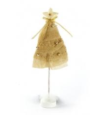 Фигурка елочка декор 31 см золото Новогодняя сказка 972540