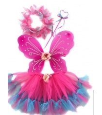 Костюм феи роз крылья 47х37 см юбка 30 см Новогодняя сказка 972570