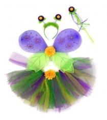 Костюм страна эльфов фиолет крылья 47х35 см юбка 25 см Новогодняя сказка 972571