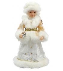 Снегурочка в золотом мех муз 40 см Новогодняя сказка 972616