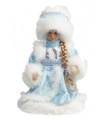 Снегурочка в голубом мех муз 30 см Новогодняя сказка 972617