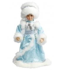 Снегурочка в голубом мех муз 40 см Новогодняя сказка 972618