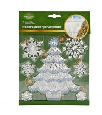 Наклейка новогодняя на окна 18х20 см в ассорт Новогодняя сказка 972718