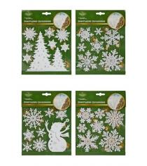 Наклейка новогодняя на окна 18х20 см в ассорт Новогодняя сказка 972720