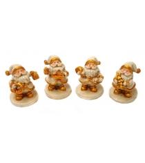 Сувенир дед мороз 45 см керам золото в ассорт Новогодняя сказка 972784