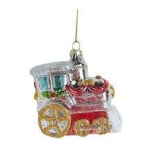 Елочное украшение паровозик 9 см пластик Новогодняя сказка 972884