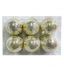 Набор шаров 6 см 6 шт золот Новогодняя сказка 972892