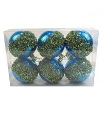 Набор шаров 8 см 6 шт гол Новогодняя сказка 972914...