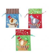 Мешок для подарка собачка 165х24 см в ассорт Новогодняя сказка 972953