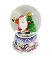 Шар декор дед мороз 80 мм свет Новогодняя сказка 972995