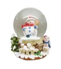Шар декор снеговик 100 мм мелодия Новогодняя сказка 973001