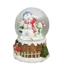 Шар декор снеговик 100 мм мелодия Новогодняя сказка 973002